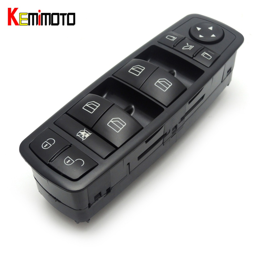 KEMiMOTO Power Window lock Switch Fits For Mercedes-Benz B-Klasse W245 W169 A-Klasse A1698206710, 1698206710, A 169 820 67 10 power window lifter switch for mercedes benz actros mpii 9438200097