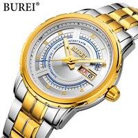 2018 New Mechanical Men Watches BUREL Luxury Brand Automatic Wrist Sapphire Waterproof Watch Men Clock Male reloj hombre