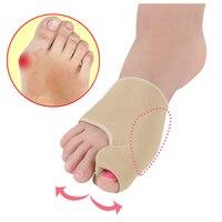 1 пара ортопедический Bunion корректор для педикюра носки Hallux корректор для косточки на ноге скобка силиконовый разделитель для ног выпрямляю...