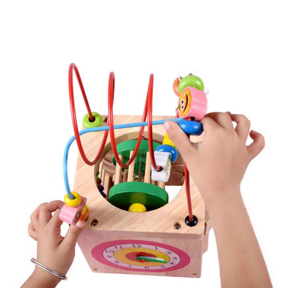 Multi-fonction 6 en 1 mathématiques en bois autour de perles labyrinthe lettres reconnaissance boulier horloge apprentissage jouets éducatifs pour enfants jouets mathématiques - 3