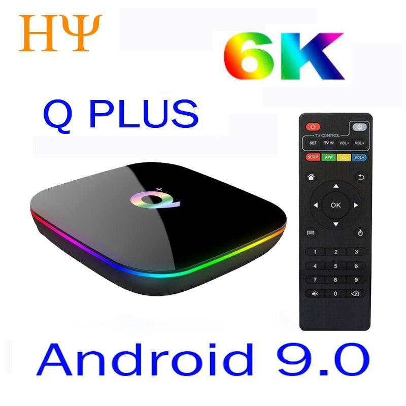 Allwinner H6 6 K Smart TV Box Android 9.0 4 GB RAM 64 GB 32 GB Quad Core USB3.0 Playstore Youtube Q Plus PK TX6 Wifi décodeur