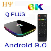 Allwinner H6 6 K Smart ТВ коробка Android 9,0 4 GB Оперативная память 64 GB 32 GB 4 ядра USB3.0 Playstore Youtube Q плюс PK TX6 Wi-Fi Декодер каналов кабельного телевидения