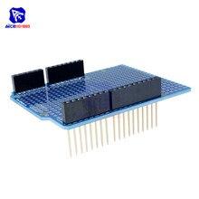 Прототип печатной платы для Arduino UNO R3 ATMEGA328P щит макетная плата Protoshield DIY FR-4 2,54 мм 2 мм шаг отверстие один