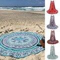 Mandala Roundie verão Boho Praia Pareo Sarong Envoltório Xale Chiffon Padrão de Flor Tapeçaria Cobertor Toalha de Praia Swimsuit Cover up