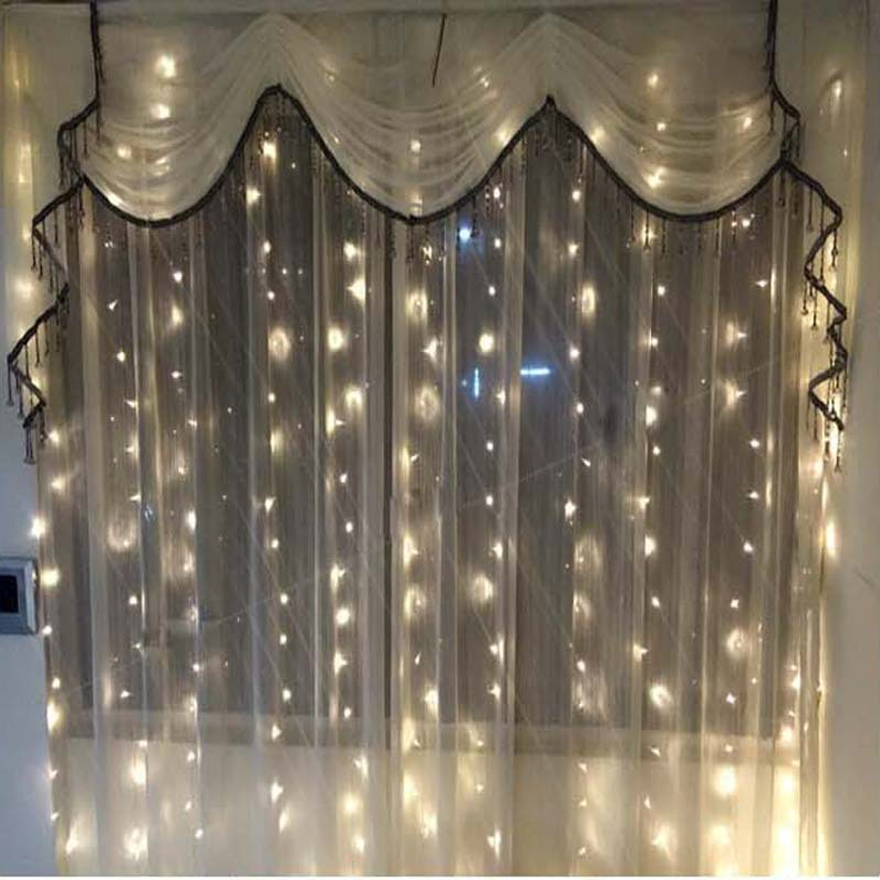 Retail 3*3m LED Holiday Lighting Strings Christmas Curtain Garland for Fairy Wedding New Year Party home garden outdoor lighting рюкзак carlo gattini рюкзак 3014 02