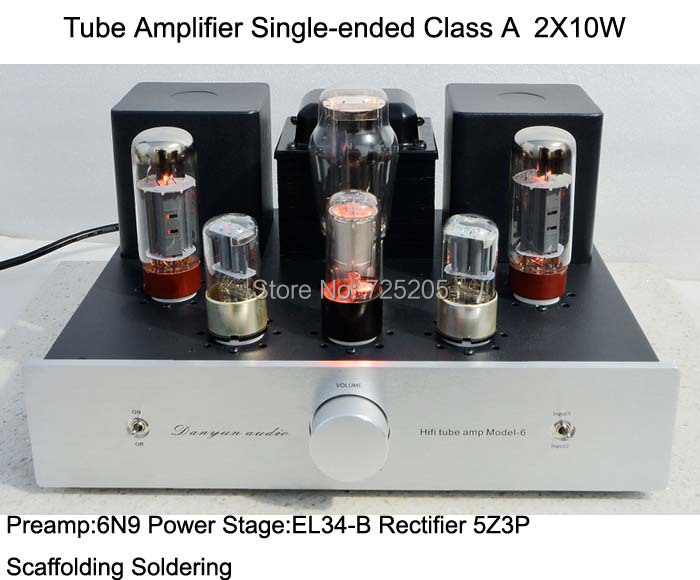 Tube Amplifier Single-ended Class A 2X10W HIFI Audio 6N9P Pre-amplifier EL34-B Power Stage 5Z3P Rectifier Scaffolding Soldering haggard h queen sheba's ring page 9
