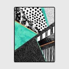 Современная мода абстрактный принт дверь/кухня коврик гостиная спальня прикроватная зона ковер декоративный ковер синий розовый зеленый черный горошек