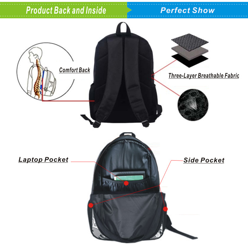 Suicide Squad Backpack Rucksack Schulranzen USB charging Men Laptop Bag