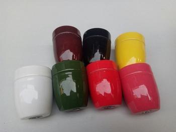 Podstawy lampy E27 E26 ceramiki i porcelany kolor glazury uchwyt lampy ceramiczne elektryczne gniazdo elektryczne lampa tanie i dobre opinie full matcher 2years Glazed