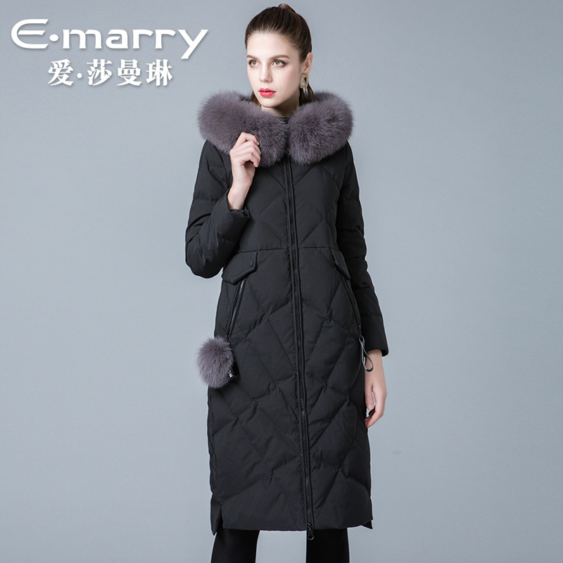 Brand of new fund of 2018 autumn winters is women's clothing Fox collars 8841178 90 white duck   down     coats   women   coat