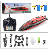 RC Boat H101 2.4GHz 30km/hour High Speed 180 degree flip with Servo Remote Control boat toys for children xmas gifts for kids