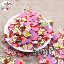 1000pcs 5mm mix color dessert candy slince polymer clay craft nail Art Supply Decoration Charm Craft