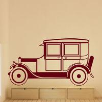 Wall Decals Retro Car Auto Classic Art Living Room Bedroom Vinyl Decor