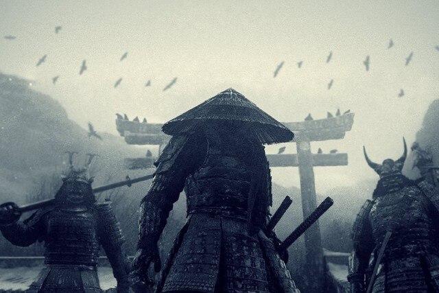 DIY frame Japan movies monsters katana samurai pagodas Sucker Punch conical  hats b475e440854a