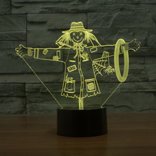 3D LED Scarecrow NightLights Lamp The Wizard of Oz Night Lights USB Touch Table lamp 7 Color For Kids Gift Toys Decoration marvel superheroes 3d night lights novelty 3d touch iron man table lamp decoration 7 color rgb 3d led lights for kids gifts dec