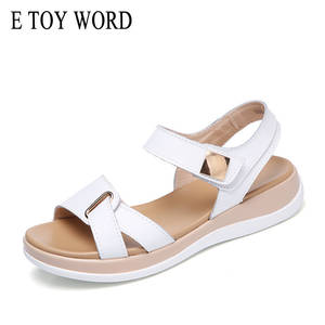 ac253f3d56c5d E Toy Word Summer leather flat sandals ladies women shoes