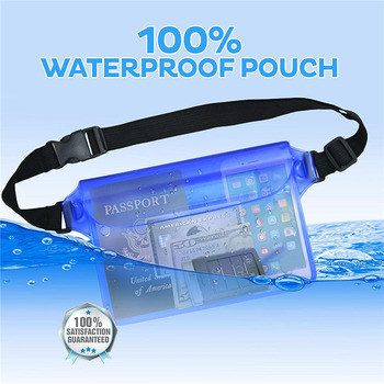 """50pcs Universal Waterproof Pouch Case with Waist Strap 8"""" Dry Bag Underwater Pocket Pack Phone Cover for Swimming Beach iPad MP4"""