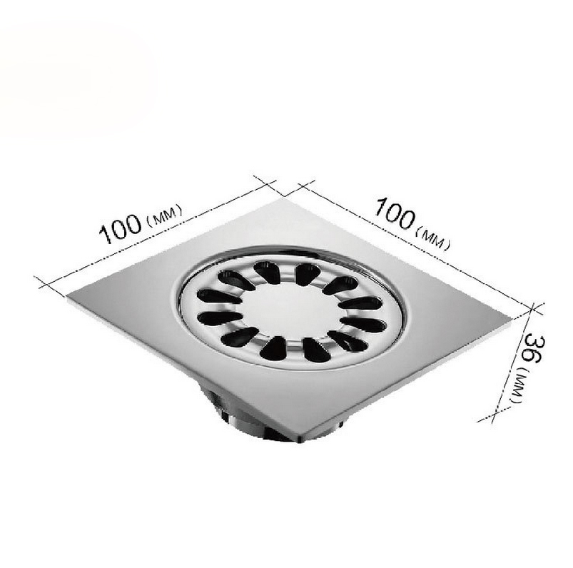 Dona 5211 Stainless Steel Square Shower Floor Drain With Removable