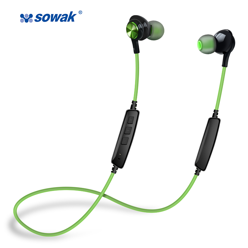 SOWAK IP1+ In-ear Earphone With Microphone Dual Battery Bluetooth Wired Metal Gaming Headset Stereo Bass Earbuds Headset