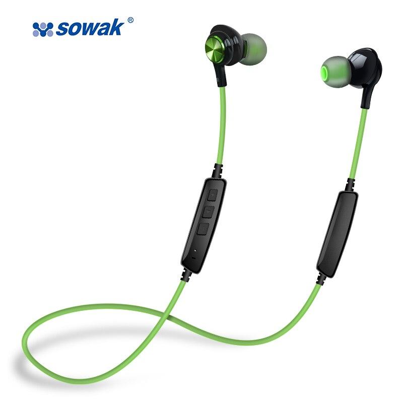Sowak IP1 + наушники-вкладыши С микрофоном двойной Батарея Bluetooth проводной Металл Gaming Headset Stereo Bass Наушники гарнитуры