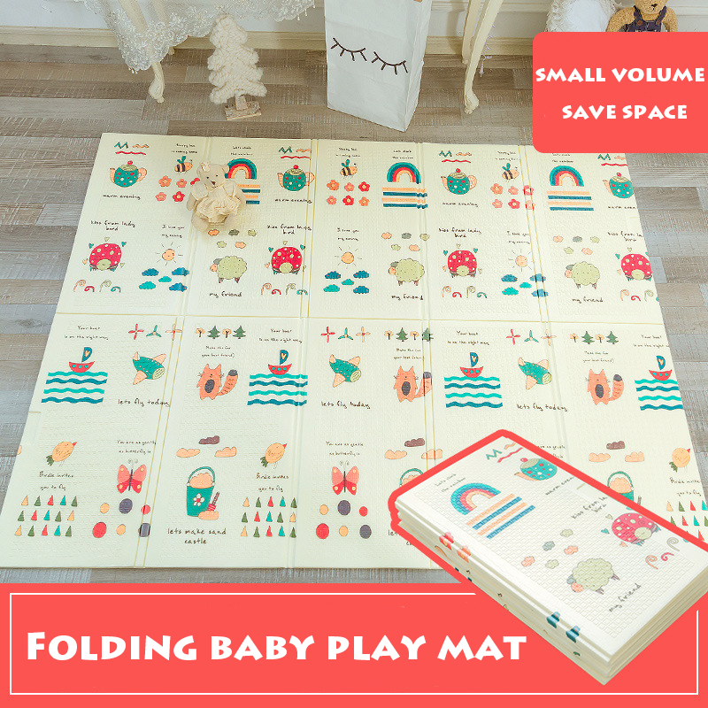Infant Shining Baby Play Mat Foldable Baby Child Environmental Picnic Mat 150*200cm XPE Crawl Mat Game Blanket Room Foam Mat bears floormat cartoon playmat boys girls game carpet animals blanket baby child 2 5cm rug skidproof yoga 150 200cm picnic mat
