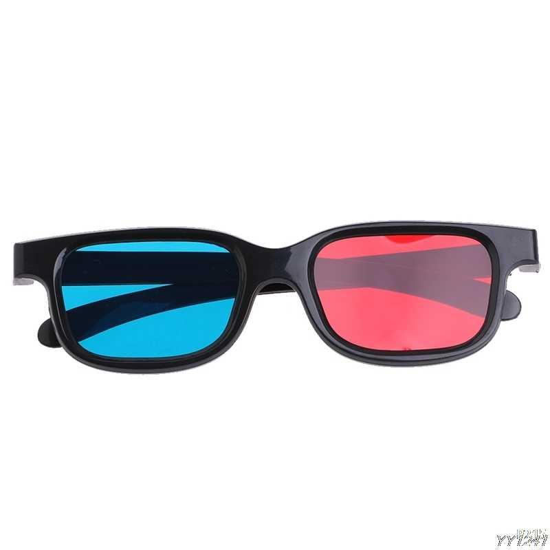 2018 แฟชั่น Universal ประเภท 3D แว่นตา/สีแดงสีน้ำเงิน 3D แว่นตา Anaglyph 3D แว่นตาพลาสติกแว่นตากันแดดรถอุปกรณ์เสริม
