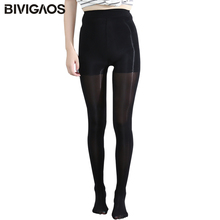 BIVIGAOS Women Super Elastic Magical Tights Sexy Pantyhose Drop Shipping Black Nude Glossy Nylons Stockings