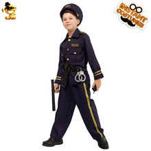 DSPLAY New Style Fashionable Original Cosplay Costume Mature Children Police Temperament Halloween Party Boys Hat Parts Suit