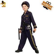 DSPLAY 새로운 스타일 유행 원래 코스프레 의상 성숙한 어린이 경찰 기질 할로윈 파티 소년 모자 부품 양복