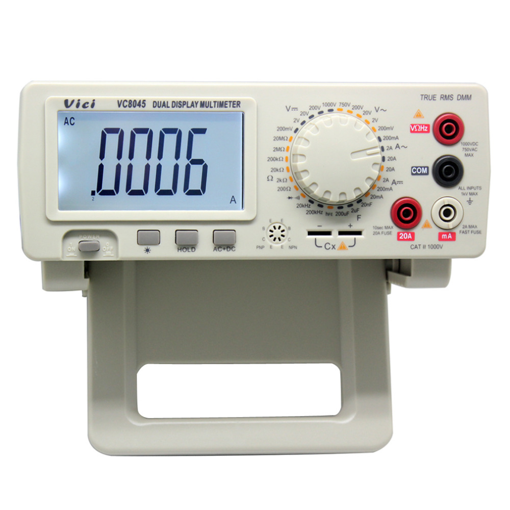 New VC8045 BENCH TOP 4 1/2 True RMS MULTIMETER DCV/ACV/DCA/ACA digital multimeter bench top 4 1 2 true rms dcv acv dca ac precision desktop multimeter vici vc8045