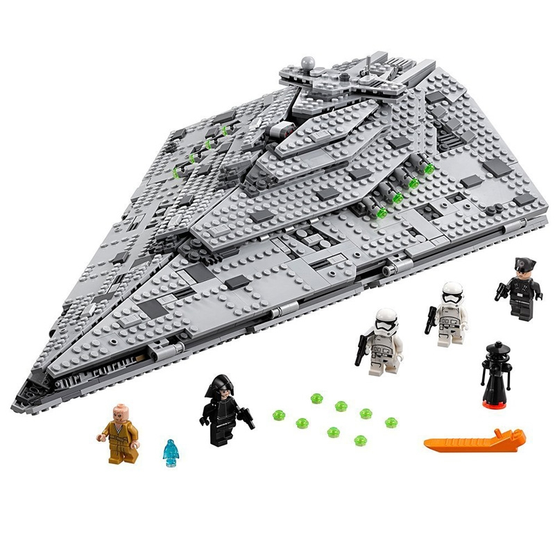 Star War 1585PCS First Order Star Destroyer Building kits Blocks Bricks toys for children gifts 75190 brinquedos single star wars super heroes marvel ninja wu master building blocks models bricks toys for children kits brinquedos menino