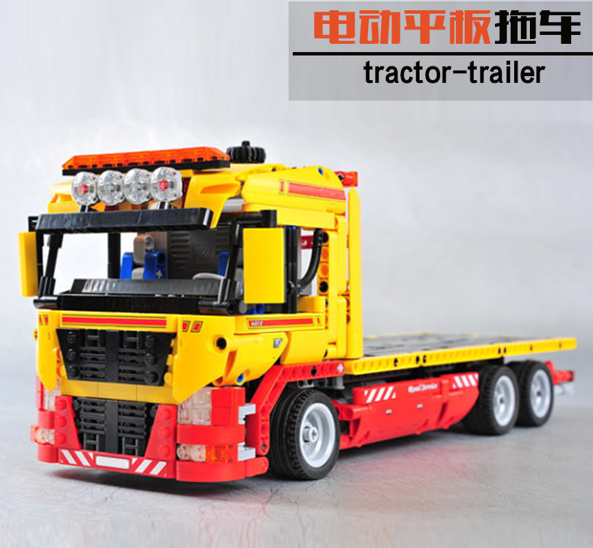 New 20021 Technic series The Flatbed Truck Model Building Blocks set Compatible 8109 classic car-styling Toys for children new lp2k series contactor lp2k06015 lp2k06015md lp2 k06015md 220v dc