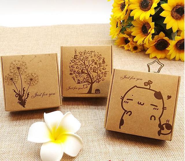 Aliexpress.com : Buy 7.5*7.5*3cm kraft soap box/Gift packaging ...
