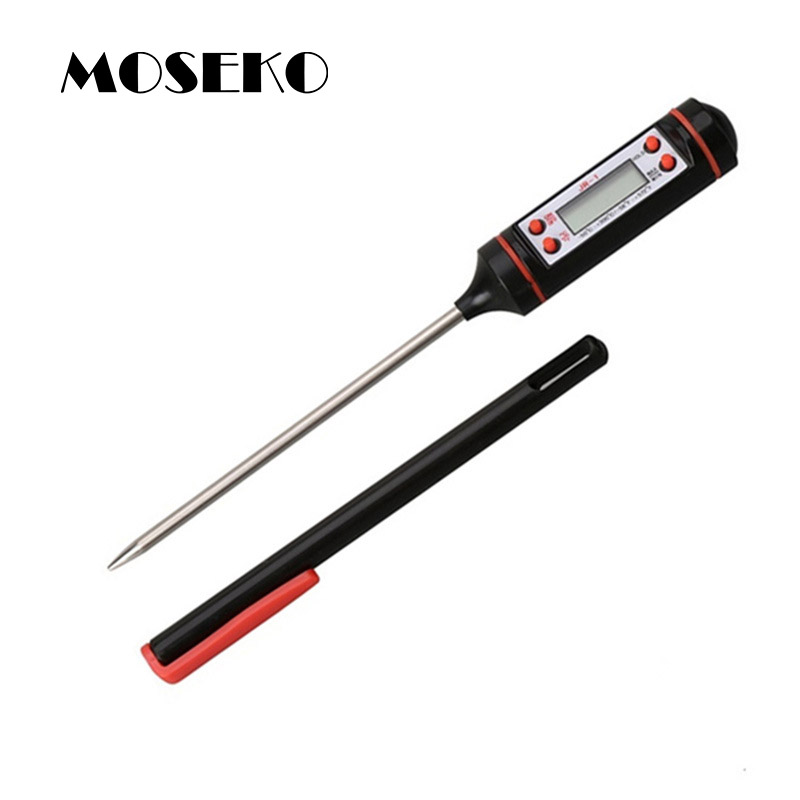 MOSEKO Portabel Elektronik Probe Kitchen Digital BBQ Thermometer Gaya Pena Memasak Makanan Daging Oven Termometer JR-1