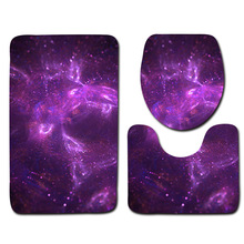 цена на Toilet 3pcs Star Carpet Bathroom Anti Slip Bath Mat Set Flannel Toilet Seat Covers Christmas Rug Sets Dropshipping Foot Pads
