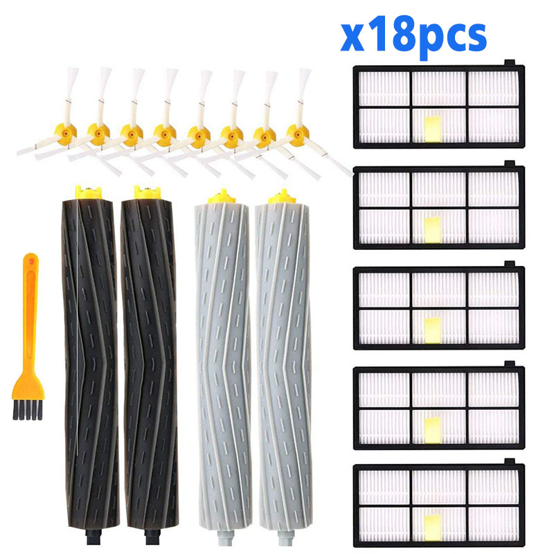 HEPA Filters Extractors Brushes Replacement Parts Kit For IRobot Roomba 980 990 900 896 886 870 865 866 800 Accessories Spare