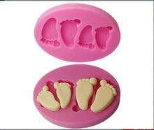 3D Mini Feet/Foot  Silicone Fondant Mold For Cake Decorating Tools mold Chocolate