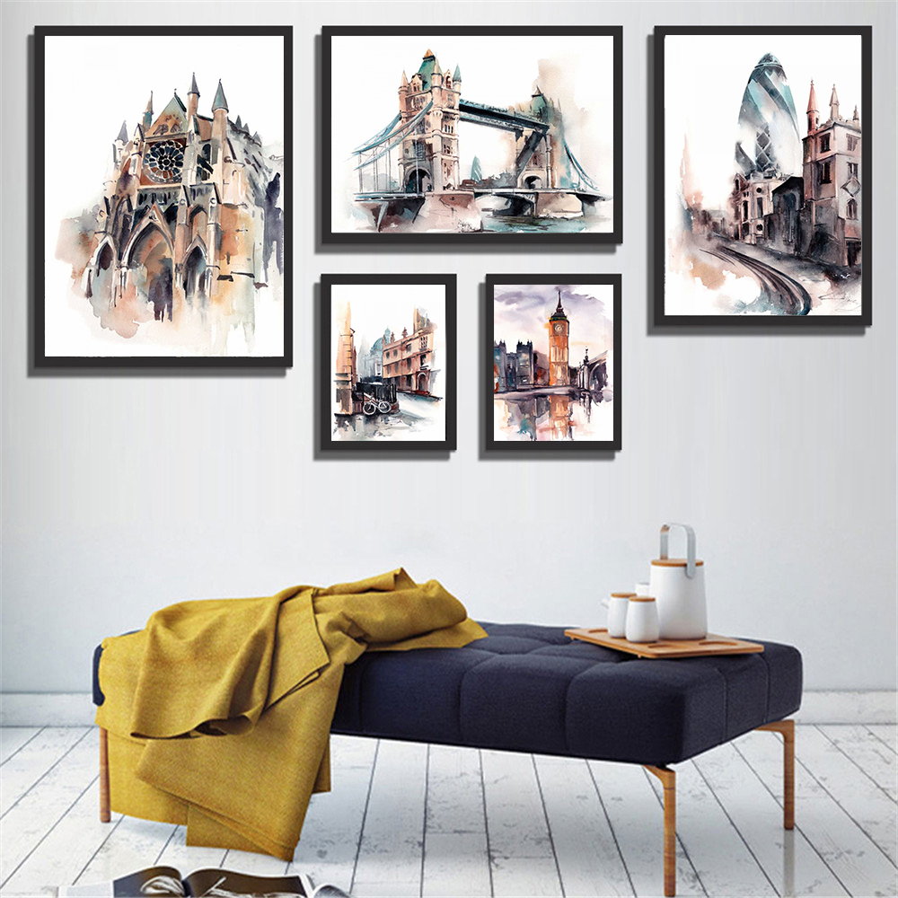 Home Decor Stores London: Aliexpress.com : Buy Abstract Painting Tower Bridge