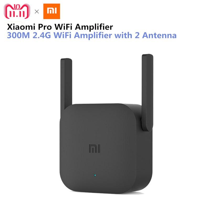 Repetidor WiFi original Xiaomi, amplificador de WiFi Pro 300M, extensor de señal WiFi 2.4 G, enrutador, extensor Wifi con aplicación de control, amplificador