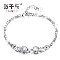 Gümüş ama 925 gümüş bilezik kadın balık ağzı yanlısı el aksesuarları gün hediye kız arkadaşı hediyeler