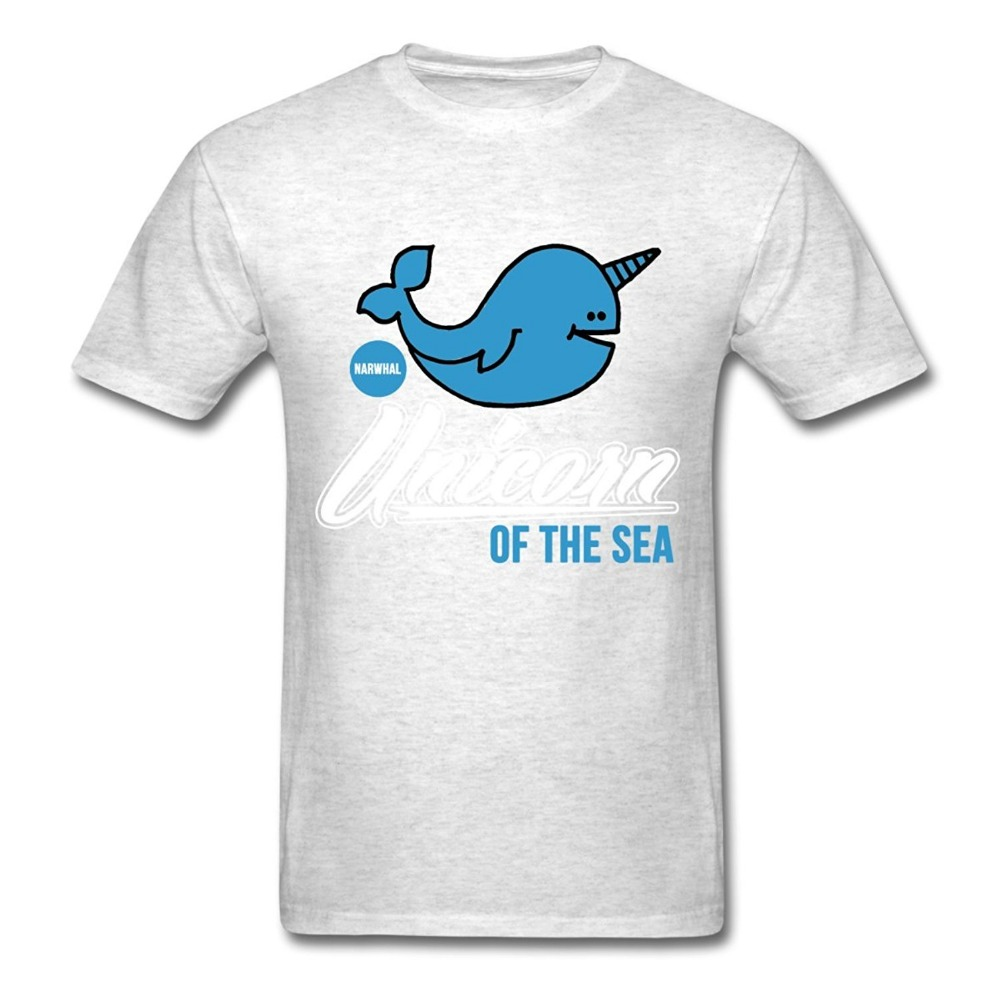 Cheap Tees Short Narwhal Funny Unicorn Of The Sea Crew Neck Zomer T Shirts For Men