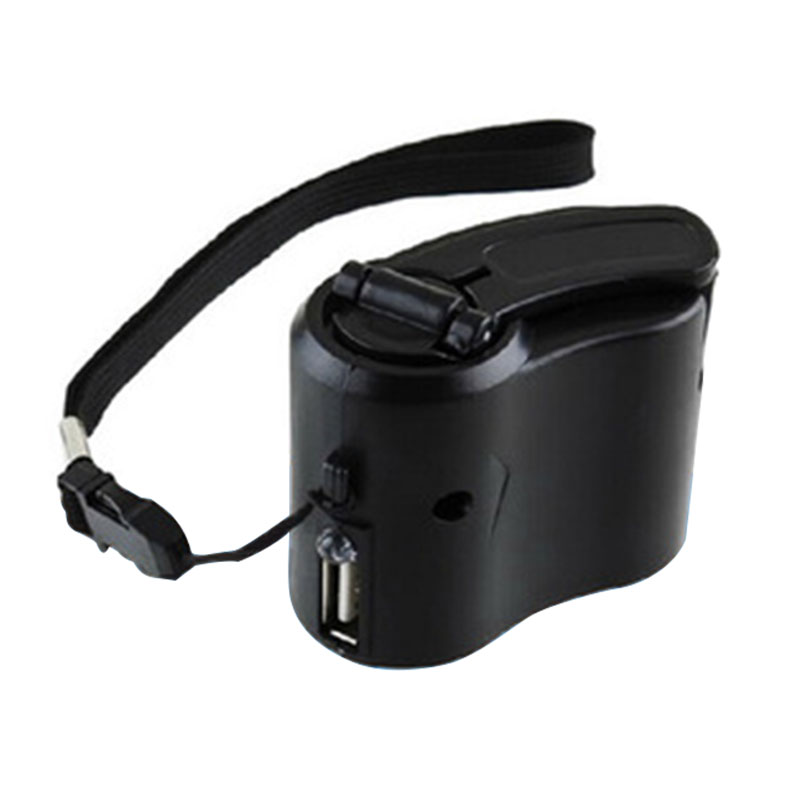 Portable Hand Power Crank Dynamo USB Travel Cell Mobile Phone Emergency Charger Gadget