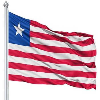 Liberia Flag 120 x 180 cm 100D Polyester Large Big Liberian Flags And Banners image