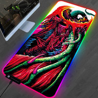 Large RGB Gaming Mouse Pad XL CS GO Mousepad Gamer LED Lighting Hyper Beast Custom Mouse Pad Rubber Mat For PC Computer 80*30cm