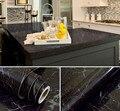 Schwarz Marmor Wasserdicht Vinyl selbstklebende Tapete Aufkleber Moderne Kontakt Papier Küchenarbeitsplatte Regal Schublade Liner Decals auf