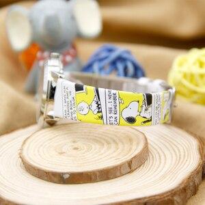 Image 4 - Snoopy Per Bambini Guardare I Bambini Orologi Del Fumetto Dei Ragazzi Studente Cinturino Orologio di Marca casual Sveglio di Modo Del Quarzo Orologi Da Polso Impermeabile
