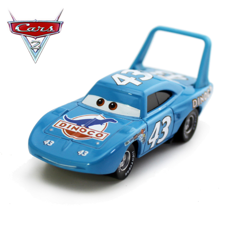 Disney Pixar с рисунками из мультфильма «Тачки 2 металлического сплава нет. 43 Король DINOCO модель автомобиля развивающая игрушка для мальчиков Детс...