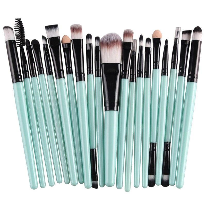 20pcs Eyes Brushes Set Eyeshadow Eyebrow Eyelashes Eyeliner Lip Makeup Brush Sponge Smudge Brush Cosmetic pincel maquiagem (2)
