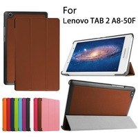 Slim Magnetic Smart Luxury Folio Stand Pu Leather Case Cover For Lenovo Tab 2 Tab2 A8