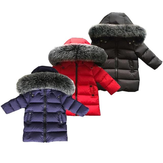 2017 зимнее пальто Обувь для мальчиков одежда От 2 до 10 лет Пух куртка для Обувь для девочек одежда детская одежда верхняя одежда зимние Куртки Пальто и пуховики